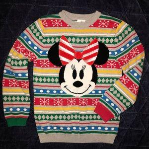 Disney Girls Minnie Mouse Christmas Sweater